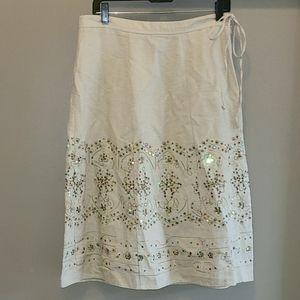 2/$30🔥 Intriguing Threads Rayon Sequin Skirt